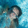Girl under the water — Stock Photo