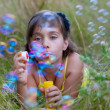 Child and soap bubbles — Stock Photo