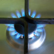Stock Photo: The flame of gas burner on the stove