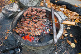 Barbecue. Meat fried — Stock Photo