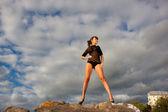 Girl in mountain — ストック写真