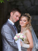 Happy bride and bridegroom — Photo