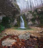 Beautiful mountain waterfall — Stock Photo