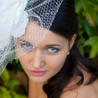 Wedding: young bride in her wedding day — Stock Photo #51220553