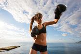 Boxing Girl — Stock Photo