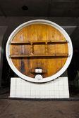 Big wine barrel — Stock Photo