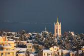 Crimean winter cityscape — Stock Photo