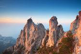 Beautiful Crimean mountains ridge — Stock Photo