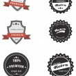 Set of vintage badges — Stock Vector