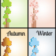 four seasons&quot — Stock Vector
