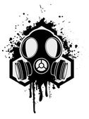 Gas mask with hexagon — Stock Photo