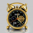 Golden alarm clock 1 — Foto de Stock