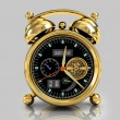 Golden alarm clock 1 — Stockfoto