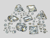 Diamonds, brilliants — Stock Photo