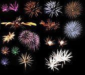 Fireworks set — Stock Photo