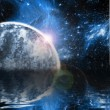 Planet with rising star — Stock Photo #26630777