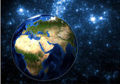 Earth in space. Elements of this image furnished by NASA. — Stock Photo