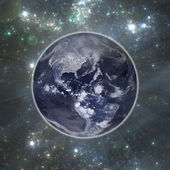 Earth in space — Stock Photo