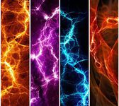 Four lightning banners — Stock Photo