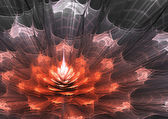 Abstract fractal flower — Stock Photo