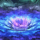 абстрактный фрактальный цветок — Стоковое фото