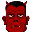 Stock Vector: Devil head