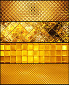 Golden mosaic banners — Stock Photo