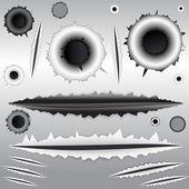 Grunge-Vector-Elements — Stock Vector