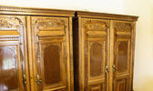 Wooden cabinet — Stock Photo