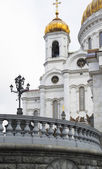 The Cathedral of Christ the Saviour in Moscow. — Стоковое фото