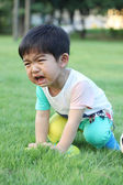 Malý chlapec, pláč — Stock fotografie