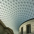 Stock Photo: Glass roof on the atrium of the British Museum in London, England