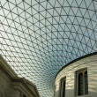 Glass roof on the atrium of the British Museum in London, England — Stock Photo