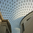 Glass roof on the atrium of the British Museum in London, England — Стоковая фотография