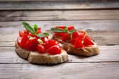 Italian bruschetta — Stock Photo