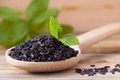 Black rice — Stock Photo