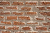 Old red brick wall. — Stockfoto