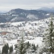 Winter settlement in Carpathian Mountains. — Stock Photo