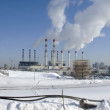 Power plant with smoking chimneys in Moscow. — Stock Photo #37549709