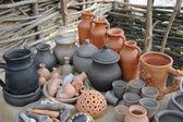 Rustic handmade ceramics. — Stock Photo