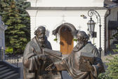 Monument to Cyril and Methodius in Kiev. — Stock Photo