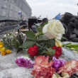 Постер, плакат: Flowers in honer of heroes killed on barricades in Kiev