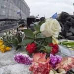 ������, ������: Flowers in honer of heroes killed on barricades in Kiev