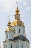Cupolas of St.  Basil's Cathedral in Kharkov. — Stock Photo
