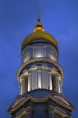 Belfry of Cathedral of the Assumption at night. — Stock Photo