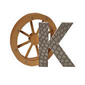 Alphabet russe lettre k — Photo