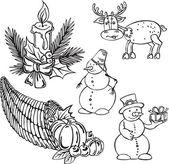Vector illustration Christmas paraphernalia — Stock Vector
