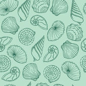 Vector pattern of seashells — Stock Vector