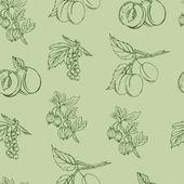Vector pattern with various berries — Vecteur
