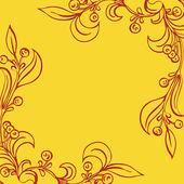 Ilustracja wektorowa z kwiatami — Wektor stockowy